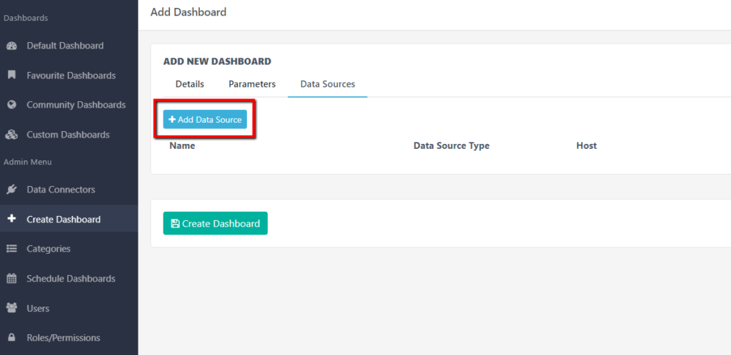 Add other data source to your dashboard